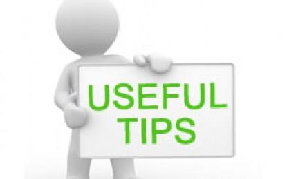Useful Tips (उपयोगी टिप्स)